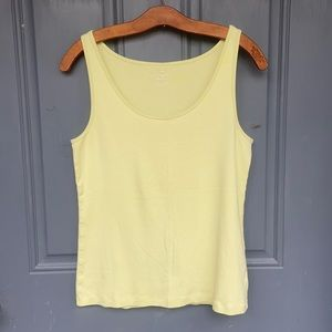 Talbots Light Green Tank Top Pima Cotton Size L